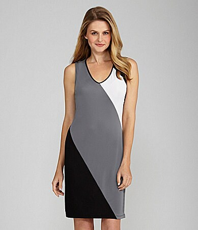 Kenneth Cole New York V-Neck Dress