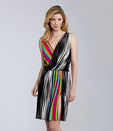 Maggy London Matte Jersey Striped Dress