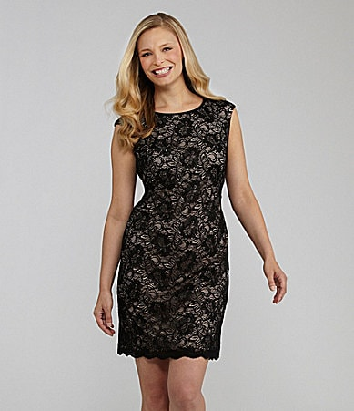 Maggy London Lace Open-Back Dress