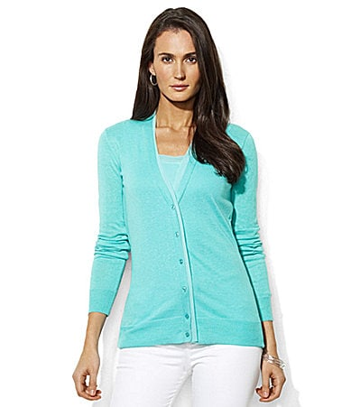 Lauren  Ralph Lauren Maryjo Cotton-Linen Cardigan