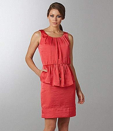 Vince Camuto Sleevelss Peplum Dress