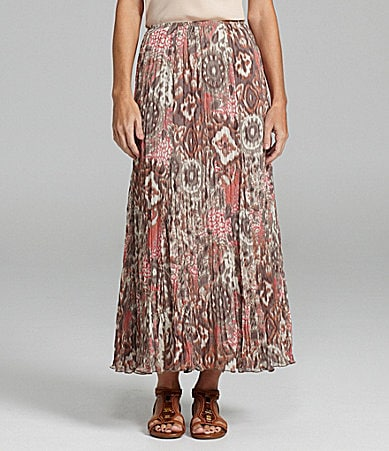 Ruby Rd. Ikat Pleated Maxi Skirt