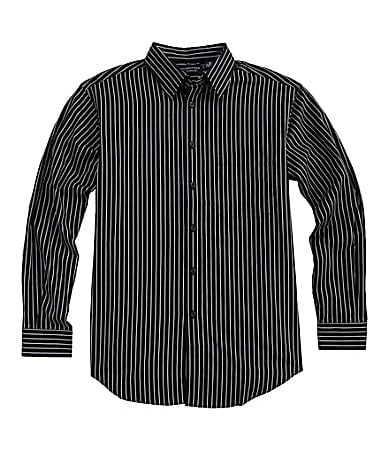 Roundtree & Yorke Silky Finish Striped Sportshirt