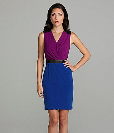 Calvin Klein Belted Colorblock Dress