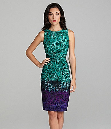 Calvin Klein Snake-Print Twist-Front Dress
