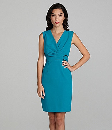 Calvin Klein Side-Buckle Lux Stretch Dress