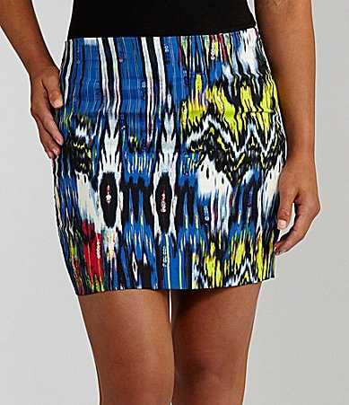 Rampage Printed Bodycon Skirt