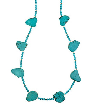 Kenneth Jay Lane Turquoise Long Necklace