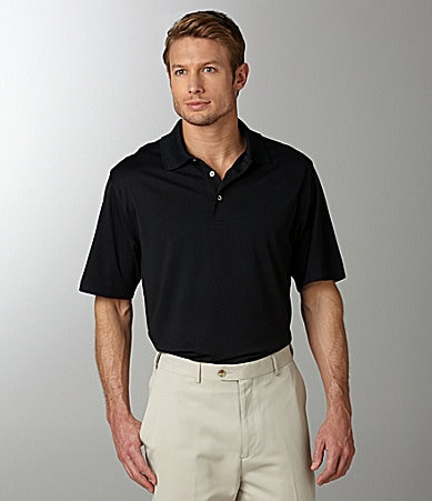 Roundtree & Yorke Big & Tall Performance Solid Polo Shirt
