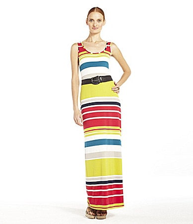 Max and Cleo Jamie Bright-Stripe Maxi Dress