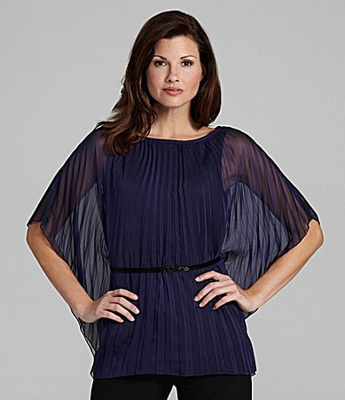 Adrianna Papell Pleated Blouse