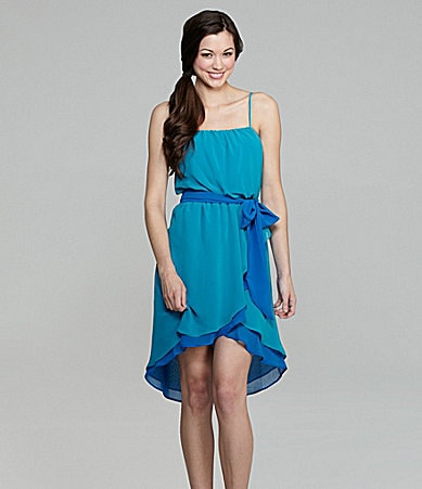 B. Darlin Hi-Low Wrap Dress