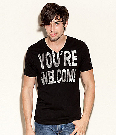 Guess You�re Welcome V-Neck Tee