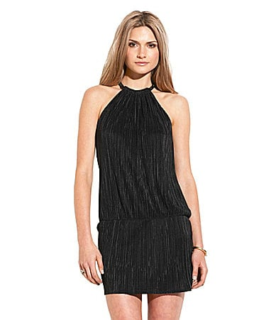 Laundry by Shelli Segal Pleated Blouson Dress