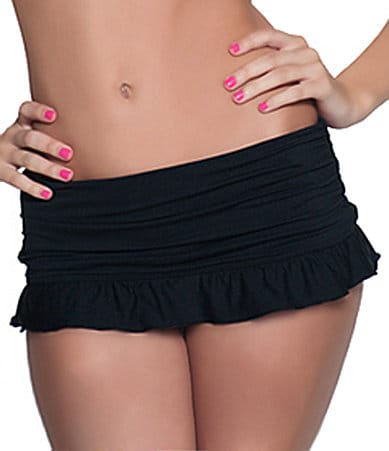Coco Rave Solid Ruffle Skirted Bottom