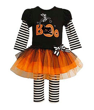 Bonnie Baby Infant Boo Dress & Leggings Set