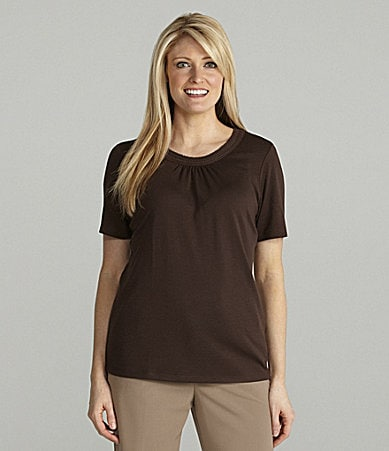 Allison Daley Petites Scoopneck Knit Top