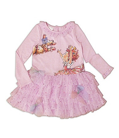 Fancy Nancy 2T-6X Tiered Glitter Dress