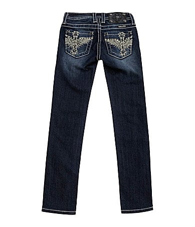 Miss Me Girls 7-16 Winged Cross Skinny Jeans