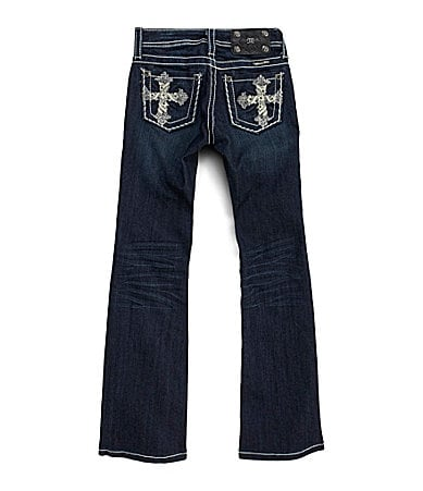 Miss Me Girls 7-16 Paradise Cross Bootcut Jeans