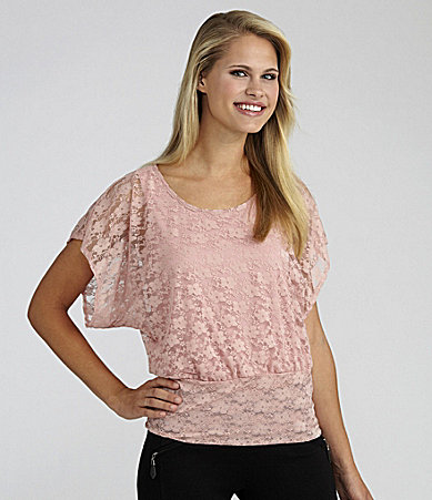 I.N. San Francisco Lace Top