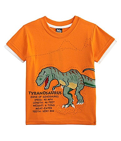 Class Club 2T-7 Dinosaur Embroidered T-Shirt