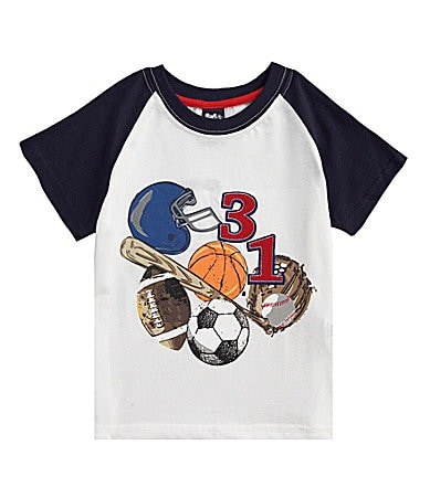 Class Club 2T-7 Jersey Sports Screenprint Shirt