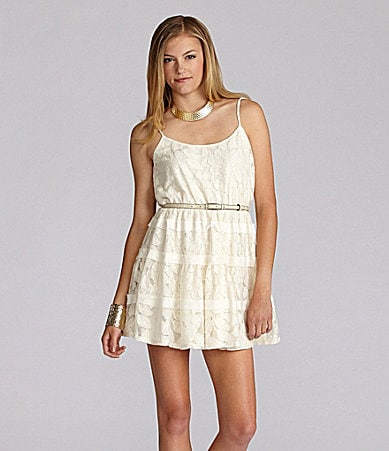 GB Belted Lace Dress