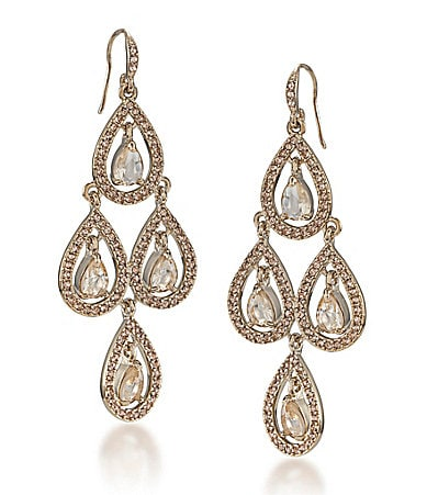 Carolee Topaz Crystal Chandelier Earrings