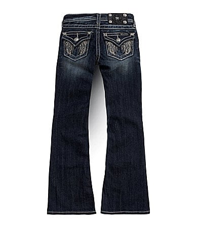 Miss Me Girls 7-16 Angel Feather Wings Bootcut Jeans