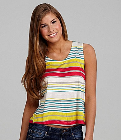 Living Doll Striped Envelope-Back Tank