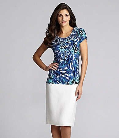 Alex Marie Petites Kayla Printed Top & Laura Linen-Blend Skirt