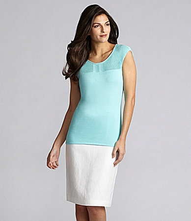 Alex Marie Petites Shelly Knit Top & Laura Linen-Blend Skirt