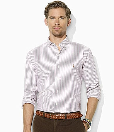 Polo Ralph Lauren Classic-Fit Bengal-Striped Oxford Sportshirt
