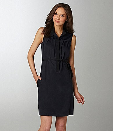 T Tahari Fiona Spread-Collar Dress