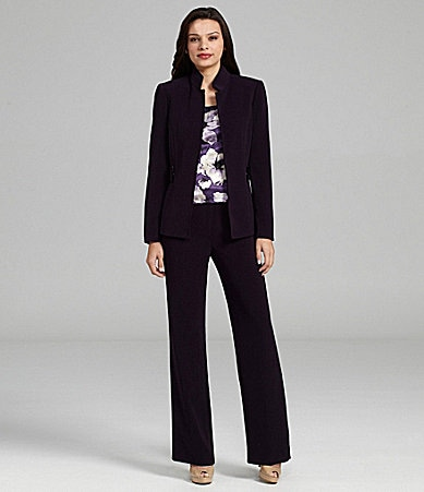 Tahari by ASL 3-Piece Pant Suit
