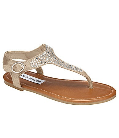 Steve Madden Girls J-Beaming T-Strap Sandal