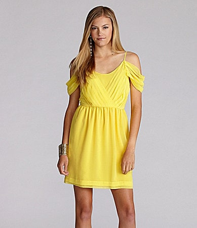 GB Off-Shoulder Draped Dress
