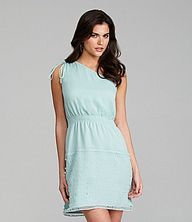 Gianni Bini Sallie One-Shoulder Chiffon Dress