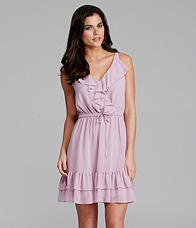 Gianni Bini Sydney Chiffon Ruffle Dress