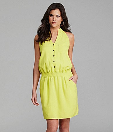 Gianni Bini Alexis Bright Stand-Collar Dress