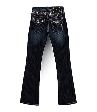Miss Me Girls 7-16 Embellished Yoke Insert Bootcut Jeans
