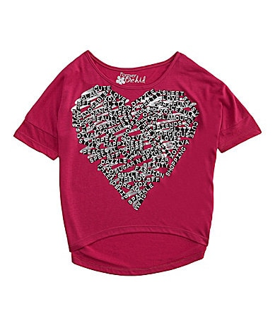 Forever Orchid 7-16 Word-Heart Dolman Top