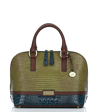 Brahmin Glossy Colorblock Collection Vivian Satchel