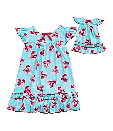Sweet Heart Rose for Dollie & Me 4-10 Owl Nightgown