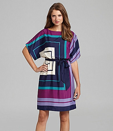 Jessica Howard Geometric Blouson Dress