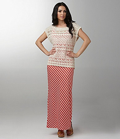 Sanctuary Clothing Garden Crochet Top & Fireworks Maxi Dress