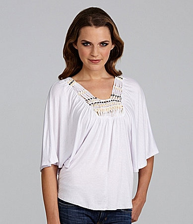 Buffalo David Bitton Vittaria Flutter-Sleeve Top