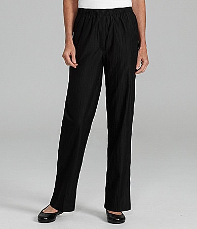 Allison Daley Petites Crinkle Microfiber Twill Pants