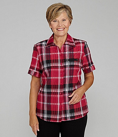 Allison Daley II Plaid Blouse